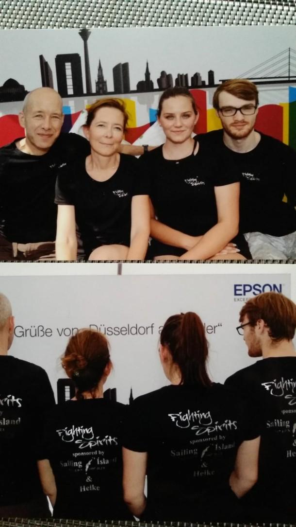 Ein Starkes Team bei Düsseldorf am Ruder